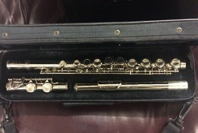 Windsor Silver Plated Student Flute Serial NoS GL15872 Cased Very Good Condition