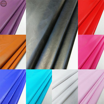 Smooth PVC Faux Leather Leatherette Fabric Stationery Bags Cover Craft Vinyl