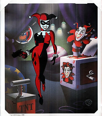 HARLEY QUINN LIMITED EDITION HAND PAINTED CEL w/ COA FREE USA SHIPPING BATMAN
