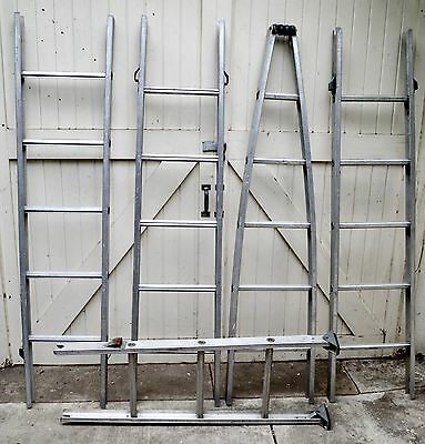 23' Sectional Aluminum Window Washing Ladder • 5 Sections • $1,000+ Value • Xlnt