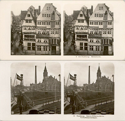 20 STEREOVIEWS HAMBURG IN GERMANY - 1906 Lot 1