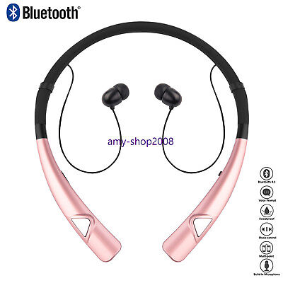 New For iPhone Samsung LG Wireless Bluetooth Headset Earbuds Earpiece Headphone