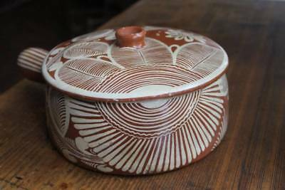 Vintage Mexican Pottery Covered Casserole