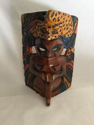 Hand Carved Wood  Mask Home Decor