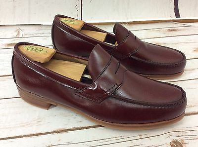 Vintage E.T. Wright Men's NOS New Penny Loafers Reddish Brown Leather Shoes 11 D