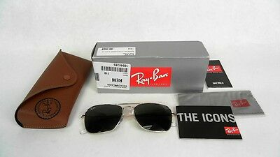 Ray-Ban Caravan Sunglasses Rb3136 Gold-Tone & Havana Frame/green Lens 55Mm - New