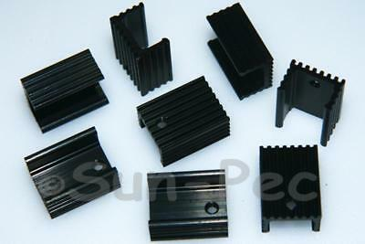 Black/Silver Aluminum Heat Sink Heatsink TO-220 20x15x10mm - Power IC Transistor