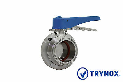 Tri Clamp Sanitary 2'' Butterfly Valve Silicone SS304 Trynox