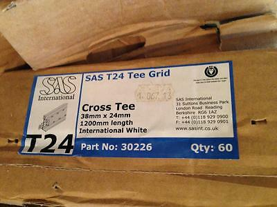 Suspended Ceiling Component- T24 Standard White 1200Mm Cross Tee ( 60 Lenghts )