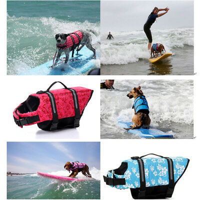 UK Pet Dog Buoyancy Aid Life Jacket Swimming Boating Adjustable Safety Vest Suit