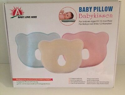 Baby Pillow - Preventing Flat Head Syndrome (Plagiocephaly) for your newborn
