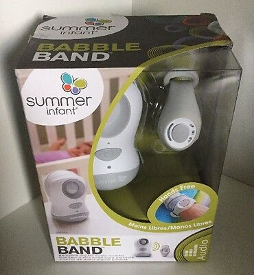 Summer Infant Babble Band Wearable Baby Monitor - NEW