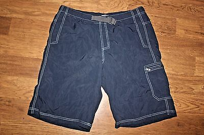 "Men's Columbia Omni-Shield Trunks Shorts Sz M Inseam 11"" Blue with inner lining"