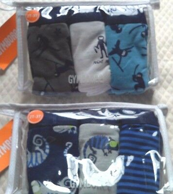 Gymboree Boys Briefs Underwear Two 3 packs 6 tot 2-3T NINJA  IGUANA LIZARD GIFT