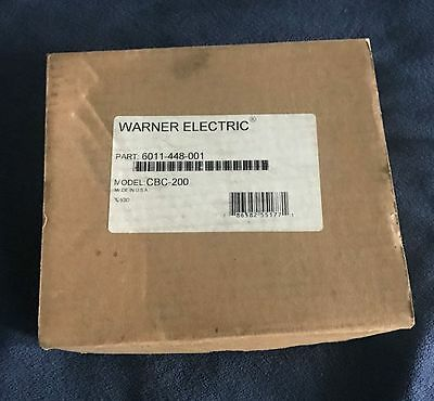 Warner CBC-200 Clutch Brake Current Control Controller Motor 6011-448-001 NEW