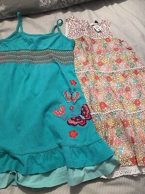 2 Girls Pretty Summer Dresses Age 3 And Age 3-4