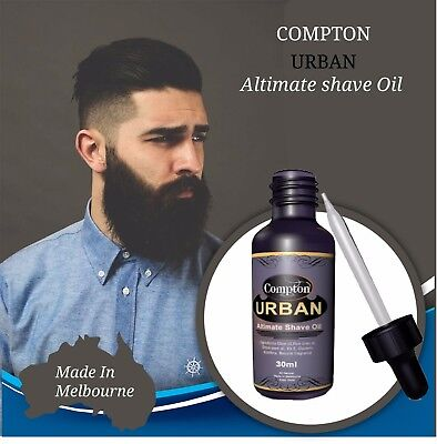 COMPTON  URBAN ULTIMATE SHAVE OIL 30 ML ALL NATURAL,Beard Products,Beard Groomin