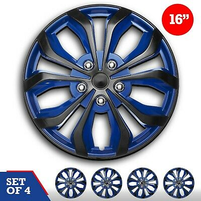 "16"" inch Hubcaps CAR+ ""SPA"" ABS BLUE AND BLACK Easy to install Set of 4 pieces"