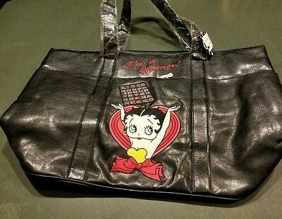 Betty Boop Leather Bingo Messenger Bag NEW