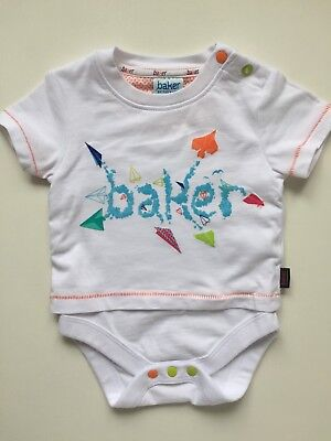 Ted Baker Baby Boys 2in1 Short Sleeved Top T-shirt Vgc