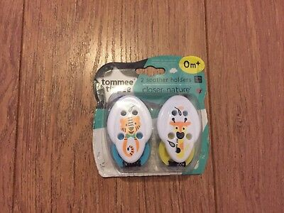 New Tommee Tippee Soother Dummy Holders 0+