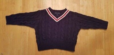 Polo Ralph Lauren Baby Boy Cable Knit Navy Blue  Sweater S/m 3M-12M