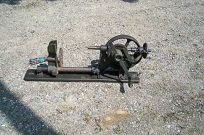 Antique Buffalo Forge Co. No. 614R Drill Press Hand Crank with bits