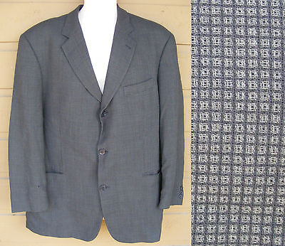 HUGO BOSS Jacket, Size 46R, Einstein, 3 button closure, Tiny Windowpane