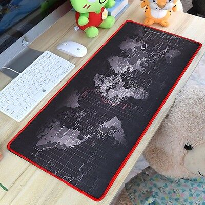 Large Anti-Slip World Map Speed Game Mouse Pad Gaming Mat For Laptop PC Macbook