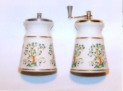 Vintage, Lenox, Matched Pair, Ceramic, Salt Shaker & Pepper Mill