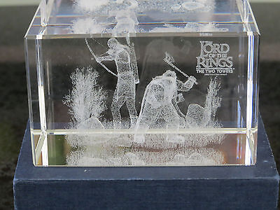 Lord of the Rings - The Two Towers - 3D Crystal Glass Block Laser
