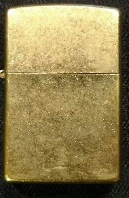 Collectable Vintage Zippo Lighter Unlit - Antique Brass - 2004 Made In Usa