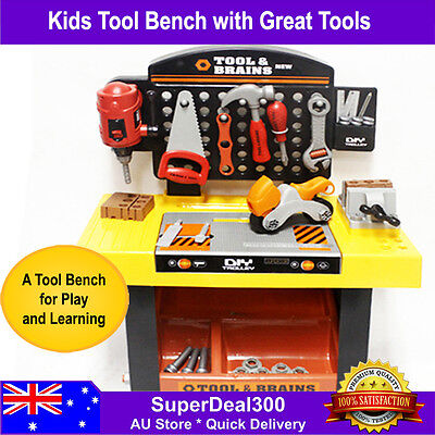 Kids Pretend Play Tool Bench with Lots of Tools, 55 Pieces Set