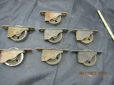 7  Matching Antique Trolley Wheels For A Match Set Of Pocket Doors