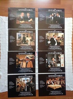 The untouchables lobby cards-set of 8 -Sean Connery-Kevin Costner-Robert Deniro
