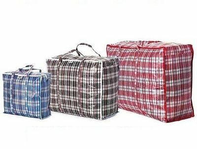 Premium Reusable Laundry Storage Bag Shopping Bags Zipped Strong Jumbo Large Bag