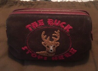 """Super Cute Isabella Fiore """"The Buck Stops Here"""" Makeup Bag"""
