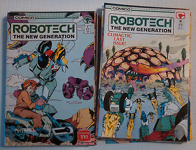 Robotech The New Generation 1 - 25 Complete Set - Comico 1985