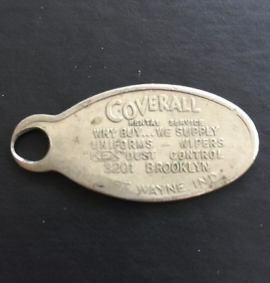 Coverall Rental Services Ft Wayne Indiana IN Mail ID Pocket Token Tag Coin