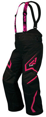 FXR Youth Black/Fuchsia Helix Insulated Snowmobile Pants Snow