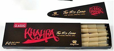 Wiz Khalifa RAW Classic Natural Unrefined Pre-rolled Cones - King Size 110mm ...