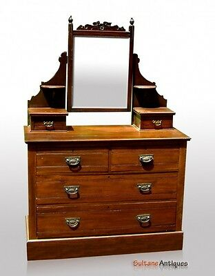 SUPERB 1870's period Victorian Mirrored dresser