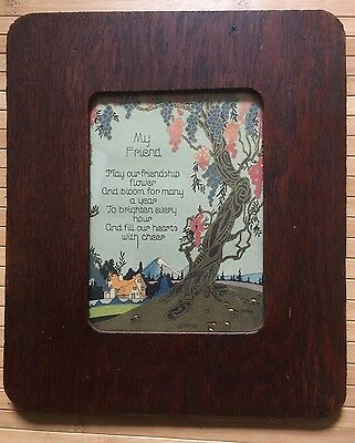 Antique OAK arts and crafts frame  10 1/2 x 12 1/2  holds 9 1/2 x 11 1/4 Print