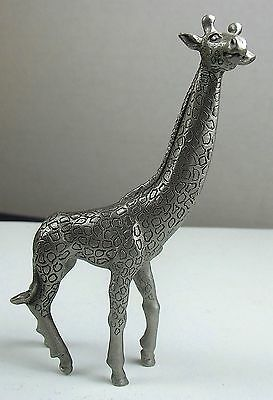 Vintage Pewter Giraffe Made By Rawcliff