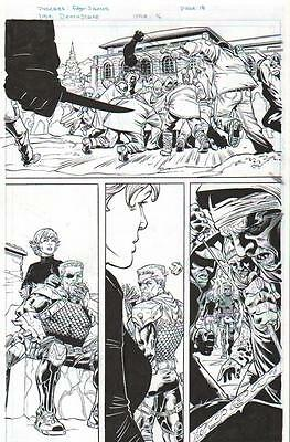 Deathstroke Vs. Koschei Original Ink Art-Edgar Salazar, Scott Hanna-2013!