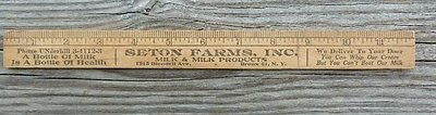 "Vintage Advertising 12"" Ruler Sexton Farms Inc Milk & Milk Products Bronx , NY"