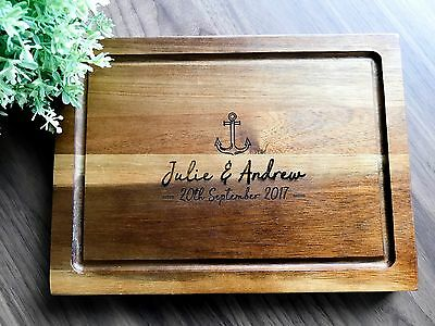 Personalized Acacia Chopping Board, Serving / Cheese Board - Wedding Gift