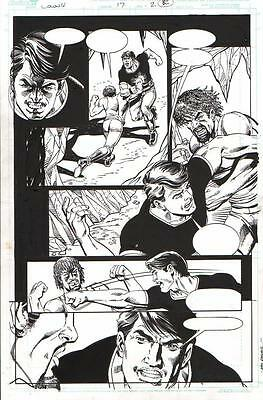 Dick Giordano/ Bob Layton 2009 Colony Original Art- Landus Vs.callisto!