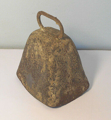 Antique Primitive Cow Bell-nice ring-Old metal hand forged-Used