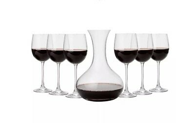 NEW ROYAL DOULTON Carafe & Wine Glass Set Great Gift Great Price! Stylish!